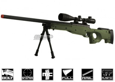 Bravo Full Metal MK98 Bolt Action Sniper Rifle Airsoft Gun ( OD / Bipod Package )