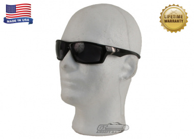 Bobster Whiskey Ballistics Sunglasses w/ Anti-Fog Smoke Lens ( Black )