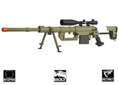 Beta Project Full Metal M200 Bolt Action Sniper Rifle Airsoft Gun ( TAN )