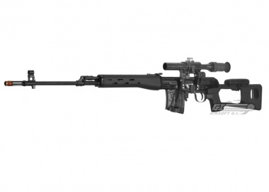 Classic Army Full Metal SVD AEG Sniper Rifle Airsoft Gun ( BLK / Scope Package )