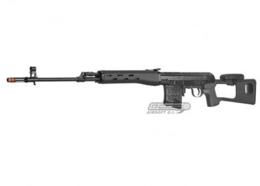 Classic Army Full Metal SVD AEG Sniper Rifle Airsoft Gun ( BLK )