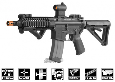 CA Full Metal Blow Back LWRC PSD AEG Airsoft Gun ( Black )