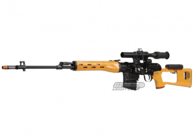 Classic Army Full Metal / Fake Wood SVD AEG Sniper Rifle Airsoft Gun