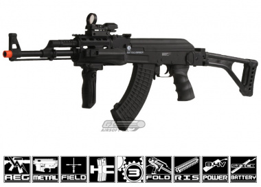 Kalashnikov AK-47 RIS w/ Folding Stock Airsoft Gun Licensed by Cybergun