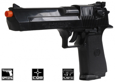 Desert Eagle .44 Magnum Spring Pistol Airsoft Gun Licensed by Cybergun ( Black )
