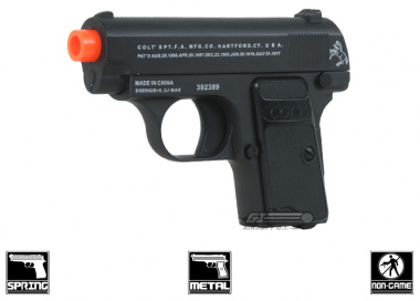 * Discontinued * Colt Full Metal .25 Spring Pistol Airsoft Gun Licensed by Cybergun