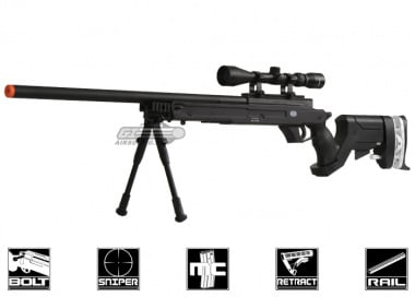 * Discontinued * Cybergun Full Metal Mauser Bolt Action Sniper Rifle Airsoft Gun ( BLK )