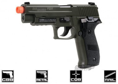 Full Metal SIG 226 Blowback Pistol Airsoft Gun ( Threaded Adaptor / OD ) Licensed by Cybergun