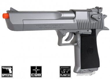 Desert Eagle .44 Magnum Spring Pistol Airsoft Gun Licensed by Cybergun ( Silver )