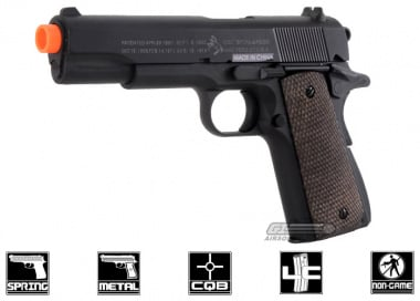 Colt Full Metal 1911-A1 Military Spring Pistol Airsoft Gun Licensed by Cybergun
