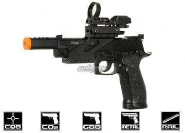 KJW Full Metal Sig Sauer P226 X-Five Open CO2 Blowback Pistol Airsoft Gun