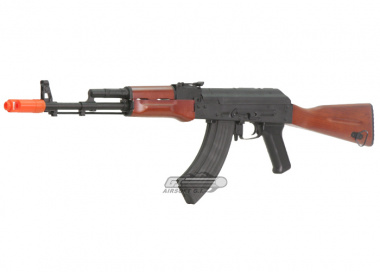 JG Full Metal / Real Wood Blow Back AK-74 w/ Full Stock AEG Airsoft Gun