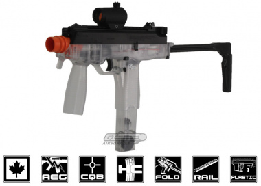 Combat Zone MAG-9 Electric Canadian Legal Airsoft Gun ( Clear )