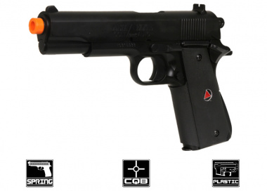 Colt Delta Elite 1911 Spring Pistol Airsoft Gun Licensed by Cybergun