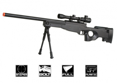 Double Eagles Full Metal M59P Bolt Action Sniper Rifle Airsoft Gun ( BLK )