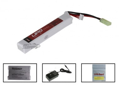 Echo 1 11.1v 1100mAh LiPo Mini Battery Package ( Battery , Charger & Liposack )