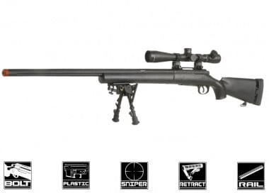 Echo 1 Full Metal M28 Bolt Action Sniper Rifle Airsoft Gun ( BLK )
