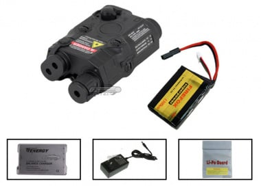 Echo 1 11.1v 1300 mAh LiPo PEQ15 Battery Package ( Black )  ( Battery , Charger & Liposack )