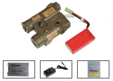 Element 11.1v 900mAh LiPo PEQ16 Battery Package ( Tan )  ( Battery , Charger & Liposack )
