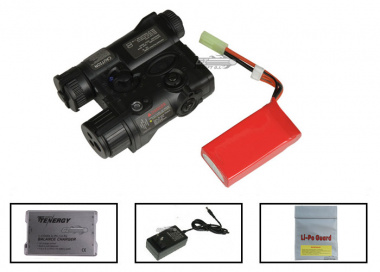 Element 11.1v 900mAh LiPo PEQ16A Battery Package ( Black )  ( Battery , Charger & Liposack )