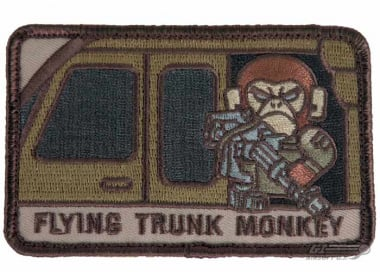MM Flying Trunk Monkey Velcro Patch ( Desert )
