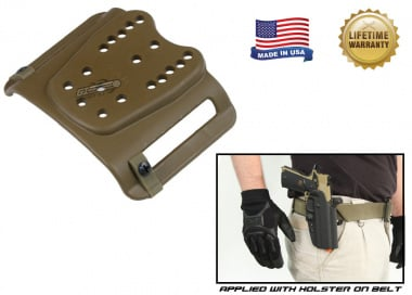 "G-Code Universal Belt Mount for Belt Sz 1.25"" to 2.25"" ( Non-RTI / Ambidextrous ) Coyote"