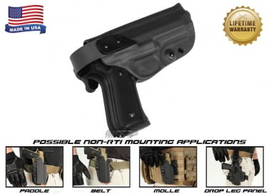 G-Code XST Standard Holster for Beretta M9 and M9 w/ Rail ( Non-RTI / Right Hand / HOLSTER ONLY ) Black