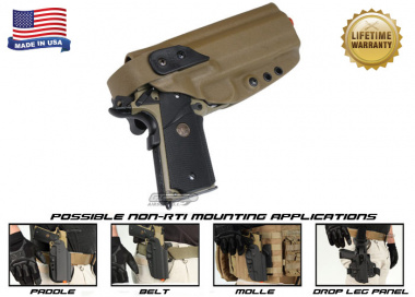 G-Code XST Standard Holster for 1911 w/ Rail ( Non-RTI / Right Hand / HOLSTER ONLY ) Coyote
