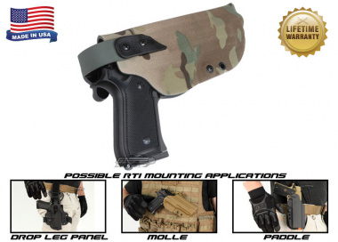 G-Code XST RTI Holster for Beretta M9 and M9 w/ Rail ( Right Hand / HOLSTER ONLY ) Multicam