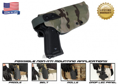 G-Code XST Standard Holster for Beretta M9 and M9 w/ Rail ( Non-RTI / Right Hand / HOLSTER ONLY ) Multicam
