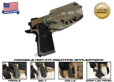 G-Code OSH Standard Holster for 1911 w/ Rail ( Non-RTI / Right Hand / HOLSTER ONLY ) Multicam