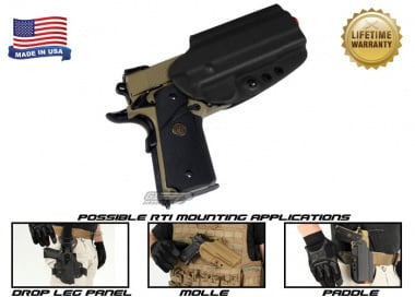 G-Code OSH RTI Holster for 1911 w/ Rail ( Right Hand / HOLSTER ONLY ) Black