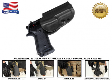 G-Code OSH Standard Holster for Beretta M9 and M9 w/ Rail ( Non-RTI / Right Hand / HOLSTER ONLY ) Black