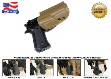 G-Code OSH Standard Holster for Beretta M9 and M9 w/ Rail ( Non-RTI / Right Hand / HOLSTER ONLY ) Coyote
