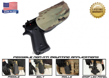 G-Code OSH Standard Holster for Beretta M9 and M9 w/ Rail ( Non-RTI / Right Hand / HOLSTER ONLY ) Multicam