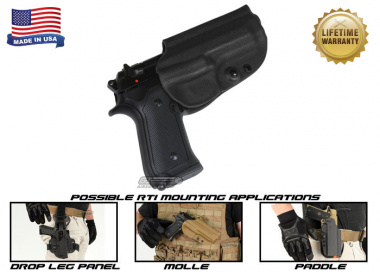 G-Code OSH RTI Holster for Beretta M9 and M9 w/ Rail ( Right Hand / HOLSTER ONLY ) Black