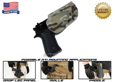 G-Code OSH RTI Holster for Beretta M9 and M9 w/ Rail ( Right Hand / HOLSTER ONLY ) Multicam