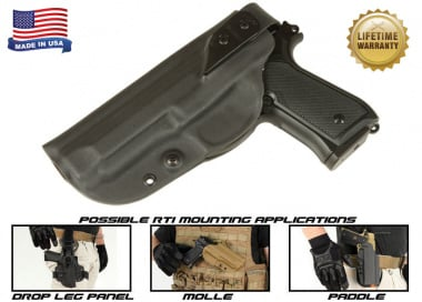 G-Code XST RTI Holster for Beretta M9 and M9 w/ Rail ( Left Hand / HOLSTER ONLY ) Black
