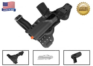 G-Code REAC Tactical Drop Leg Panel & XST 1911 w/Rail Holster Pkg ( RTI / Right-Handed ) Black