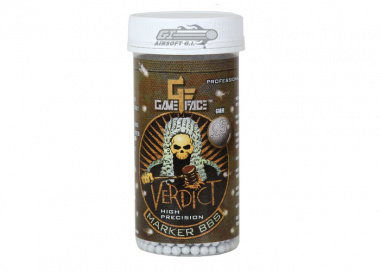 Game Face Verdict High Precision Marker .25g BBs 2200 Rds (White)