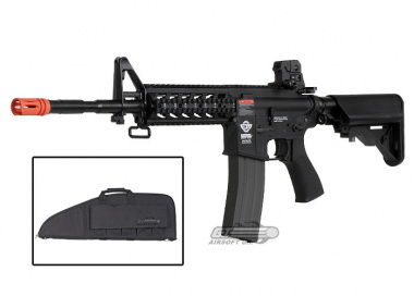 Combat Machine M4 Raider with Polymer RIS AEG Airsoft Gun ( Black ) ( Gun Bag Combo )