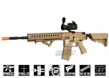 Combat Machine R8-L AEG Airsoft Gun ( Battery and Charger Package / Tan )