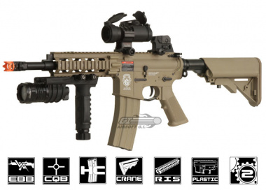 Combat Machine RUSH GR15 CQW Blow Back AEG Airsoft Gun ( Tan )