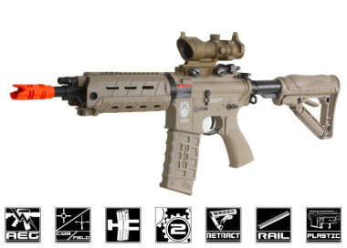 G&G GR4 G26 w/ Built-In Laser & Light Electric Blow Back AEG Airsoft Gun ( Desert )