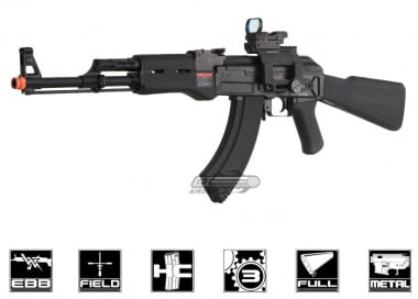 G&G Full Metal RK47 Blow Back AEG Airsoft Gun ( Black )