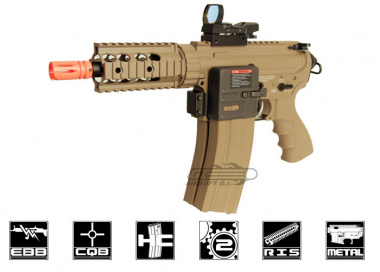 G&G Full Metal TR16 CRW Desert Tan Blow Back AEG Airsoft Gun
