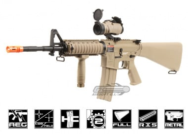 G&G Full Metal TR16 R4 Desert Tan Blow Back AEG Airsoft Gun