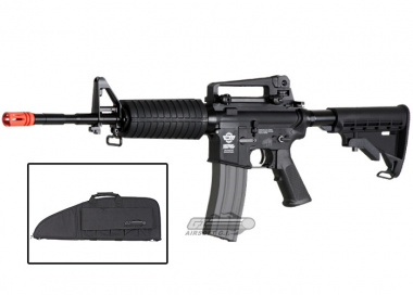 Combat Machine M4-A1 Carbine AEG Airsoft Gun ( Battery and Charger Package / Black ) ( Gun Bag Combo )