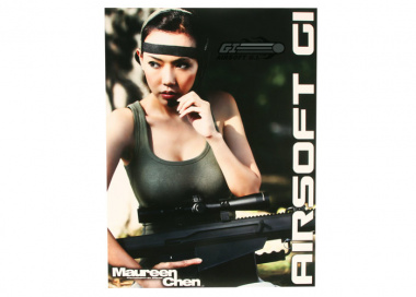 Airsoft Safety Foundation Autographed Maureen Sniper GITV Girl Poster ( Only 10 Available; Serial Numbered )