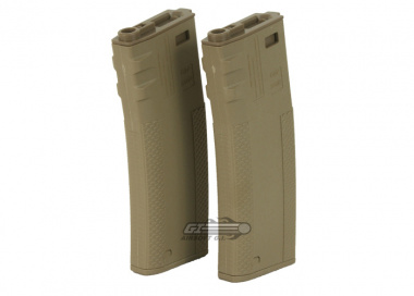 G&P / Socom Gear Troy Industries 340rd M4 / M16 High Capacity AEG Battle Magazine ( 2 Pack / DE )